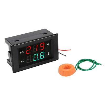 AC60-300V 10A-100A Digital Voltmeter Ammeter LED Amp Volt Dual Display Panel