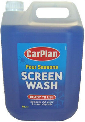 All Seasons Ready Mixed Screenwash 5ltr Quickly Removes Dirt, Grime & Insects