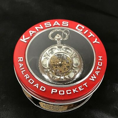 Kansas City Railroad Pocket Watch Inspired by Jesse James in Collectors Tin