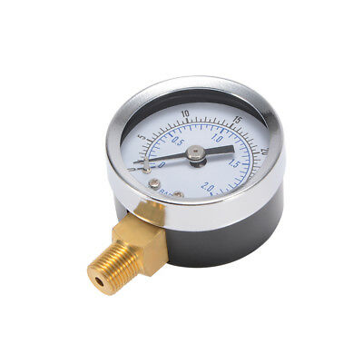 40mm Pressure Gauge 0-30psi 0-2Bar Pneumatic Accurate Meter Manometer BI911