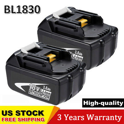 For MAKITA BL1830 18V LXT Lithium-ion Battery 3.0Ah BL1850 BL1840 Cordless 2Pack