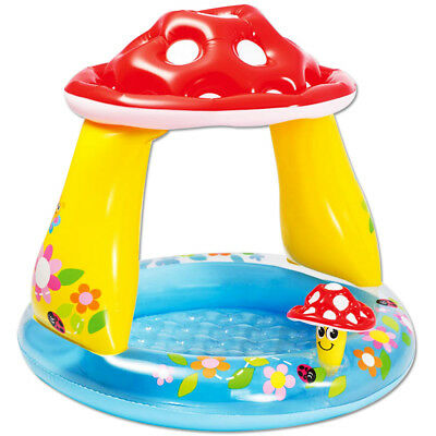 INTEX Baby Pool Royal Castle 122x122 cm Sonnendach Schloss Planschbecken Kinderbadespaß