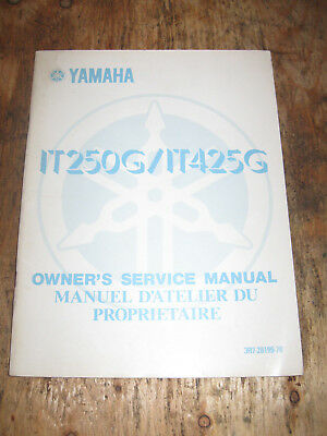 Yamaha It 250G It 425G Owners Service Manual English And French 3R7-28199-70