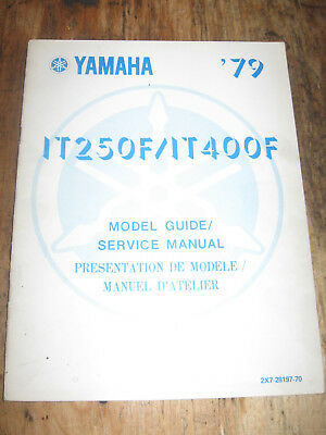 1979 Yamaha It 250F It 400F Owners Service Manual English/french  3R7-28199-70