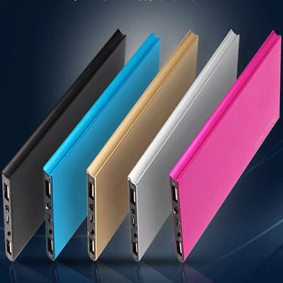 Ultrathin 50000mAh 2 USB External Battery Power Bank Pack Charger For Cell Phone