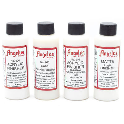 Angelus Brand Clear Acrylic Paint Finisher 600 605 610 615 620 - 4.oz
