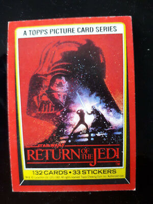 Topps RETURN OF THE JEDI (Series 1) Single Bubblegum Trading Card Pick Your No.