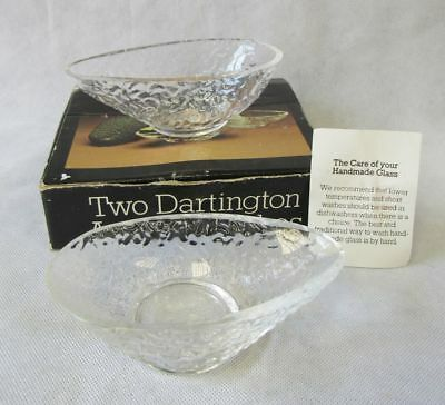 British 2 Dartington Handmade Glass Advocado Dishes Boxed Frank Thrower 3 Sets Available