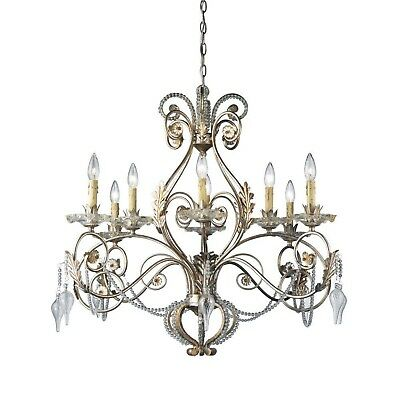 Hampton Bay Allure 8-Light Antique Silver Chandelier 14441-028