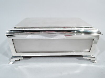 George VI Box - Antique Art Deco Casket - English Sterling Silver - Comyns 1946