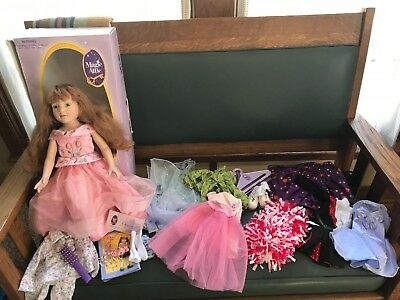 """Magic Attic Club Megan Doll with extra outfits & shoes etc. 3+ 18"""" Doll"""