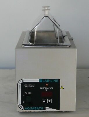LAB-LINE AQUABATH 18002 HEATED WATER BATH, 5L / 1.38 GAL., Incl Thermometer
