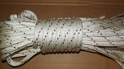 "9/16"" (14mm) x 48' Halyard Line, Dyneema Double Braid Line, Boat Rope -- NEW"