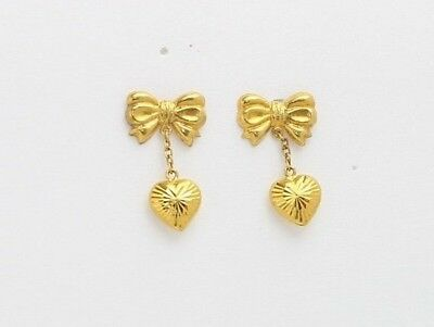 18k gold heart earring from Singapore #21