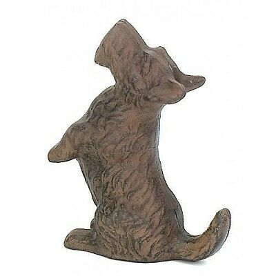 Cast Iron Scottie Dog Playful Begging Doorstop