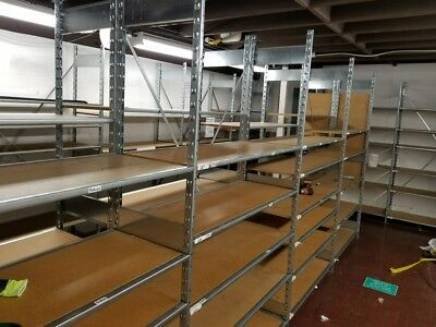 Heavy Duty Metal Shelves Lozier Warehouse shelving storage 84 x 48 LOCAL SD ONLY