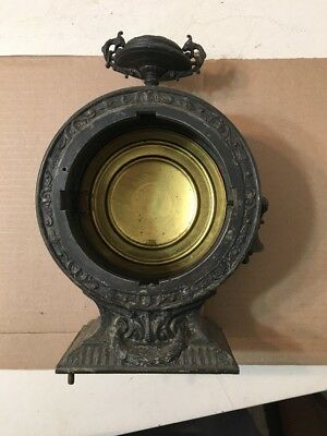 Antique Ansonia Statue Clock Movement Case & Back Door