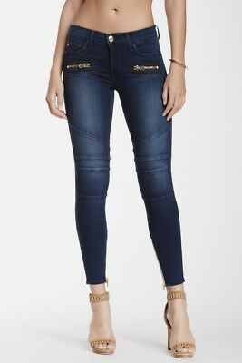 True Religion Womens Jeans Halle Super Skinny Stretch Clean Inky Blues WC509UB5