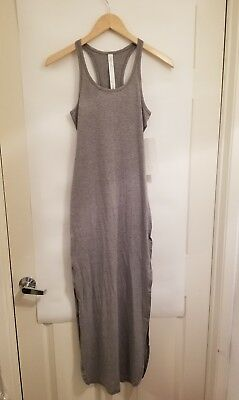 7b6dc1b7ffb Lululemon Refresh Maxi Dress II NWT Size 2 HMDG Heathered Mod Grey Color  Pima