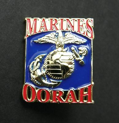 Us Marine Corps Usmc Marines Oorah !! Lapel Pin Badge 1 Inch
