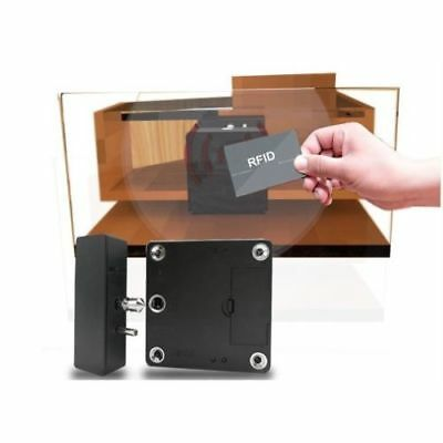 KERONG RFID Hidden Cabinet & Drawer Lock - 4 RFID Cards + AC Adapter 13.56 MHz