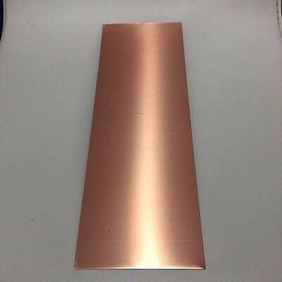 Copper sheet metal plates CU 350mm x 100mm 0.55mm thickness FREE POSTAGE!
