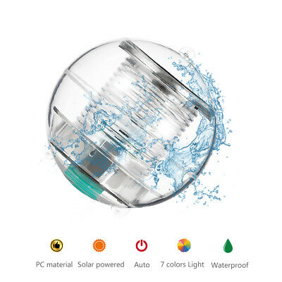 Solar Power Water Floating Light Swimming Pool Ball 7 Colors LED Flashing Lamp