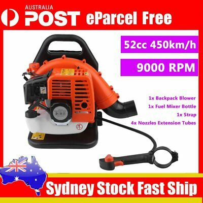 52CC Backpack Petrol Leaf Blower Commercial Outdoor Removal Garbage Tool BG