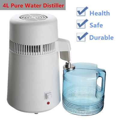 4L Pure Water Distiller Medical Steel Filter Purifier Distilled Purify 1L/h BG
