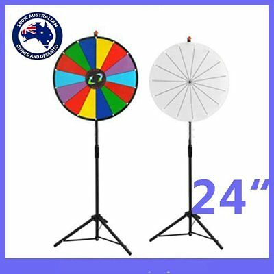 "Prize Wheel 24"" Inch Editable Dry Erase Color Fortune Spinning Game Floor Stand"