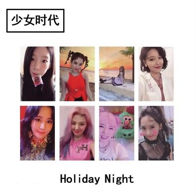 Kpop Girls' Generation Holiday Night Paper Photo Cards Self-made Photocard 8pcs