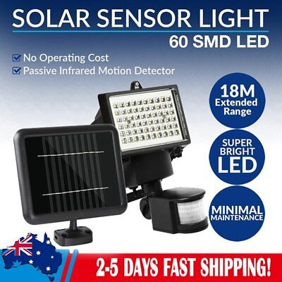 60 LED Ultra Bright Solar Light Motion Detection Sensor Security Garden Flood OZ