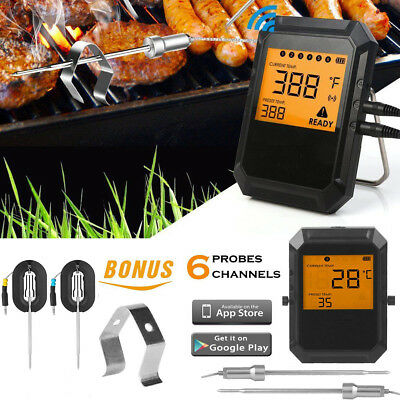Digitale Wireless Bluetooth APP Remote BBQ Alimenti Termometro da Cucina 2 Sonda