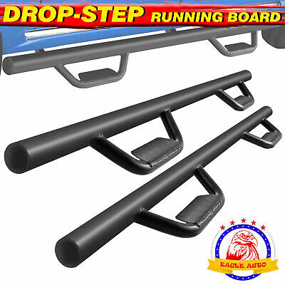 """For 05-19 Toyota Tacoma Double Cab 3"""" Running Board Side Step Nerf Bar BLK B"""