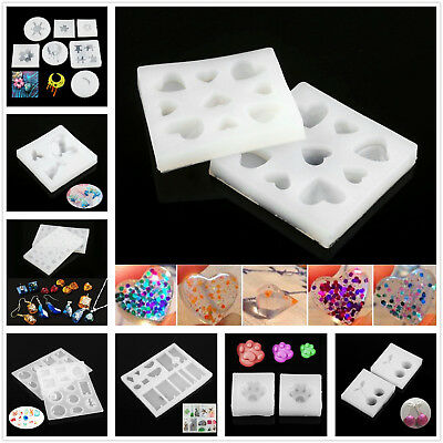 1Pc Pro Home DIY Craft Mold Jewelry Pendant Making Resin Casting Mould Silicone