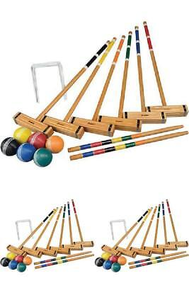 Croquet Set Classic Series Game of Six Player Outdoor Game With Deluxe Carry Bag