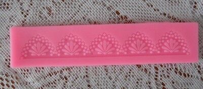 13.5 X 2.0 cm LACE FLOWER PATTERN CAKE BORDER SILICONE MOLD  DECORATION MAT