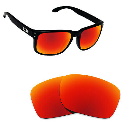 0695a88b58 Hawkry Polycarbonate Replacement Lenses for-Oakley Holbrook Sunglass - Fire  Red