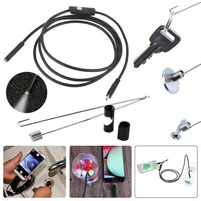 5m USB Endoscope 1080P HD Camera Borescope Waterproof Inspection For Android PC