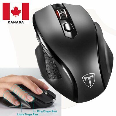 Victsing Wireless Mouse with Nano USB ReceiverAdjustable  Mice 6 Button Canada