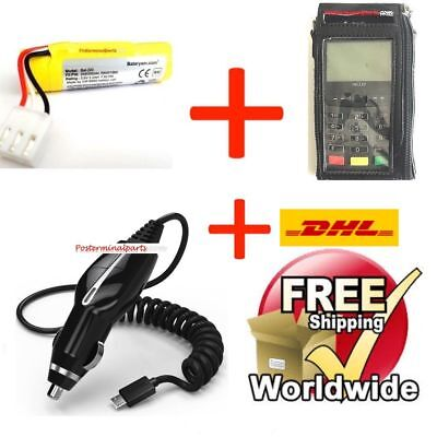 Ingenico iwl220 iwl250 Series Battery,Carrying Case and Car Charger Mobile SET