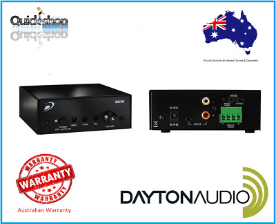 Dayton Mini Amplifier Professional Stereo 15W Class-D Bridgeable To 30W