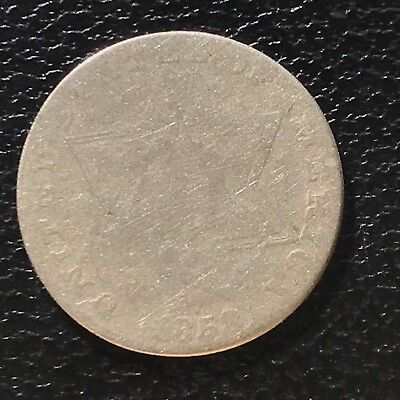 1858 Three Cent Piece Silver Trime 3c circulated mid grade #6920