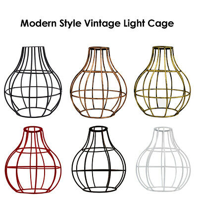 Vintage Lampshade Balloon Industrial light Metal Frame lamp Cage Guard Bar Cafes