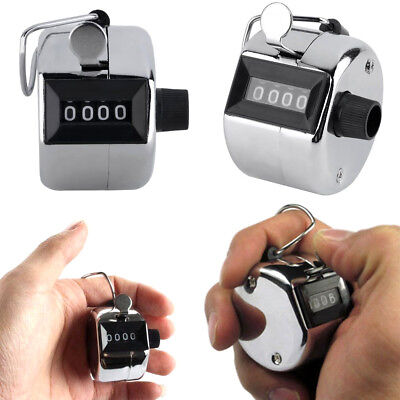 Hand Held Tally Counter Manual Counting 4 Digit Number Golf Clicker NEW