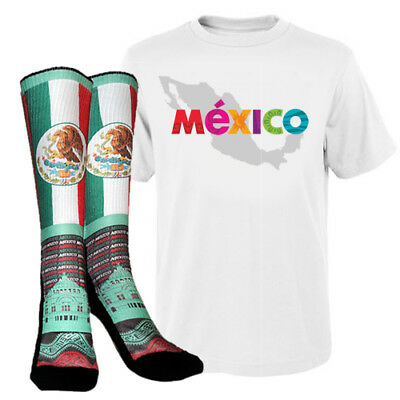 Mexico Pride Gift Box Set Includes T Shirt Socks Comes In S M L XL