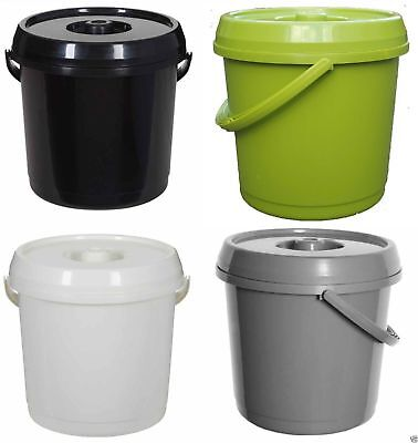 Nappy Bucket 14 Litre Storage Plastic Lid With Handle Kids Bin Strong Quality