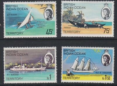 BIOT Boats and ships of the Island MINT set sg32-35 MNH