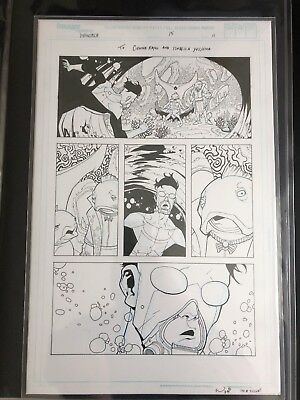 Ryan Ottley Invincible Original Art #15 Pg 11 Aquaria 2nd App and Lethan 1st App
