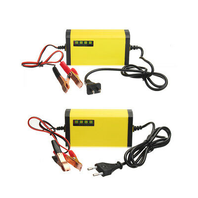12V 2AH-20AH Smart Automatic ABS Battery Charger US/EU Plug For Car Motorcycle